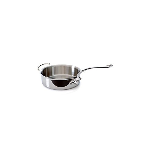 Mauviel 5211.24 M'Cook Saute Pan W/HH 24CM Cast SS Hdl 2.6MM, 24'', Stainless Steel by Mauviel