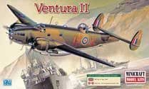 #2105 Academy/Minicraft Royal Air Force Ventura II Lockheed 1/72 Scale Plastic Model Kit,Needs Assembly