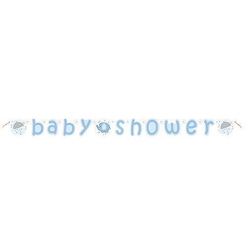 5.24ft Blue Elephant Boy Baby Shower (Baby Boy Shower Banner)