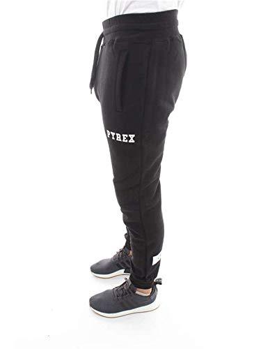 Pantalone 18ipb34209 Felpa Nero In Stampa Pyrex Unisex Con wliukXOZPT