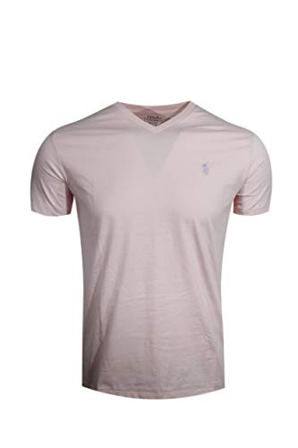 Polo Ralph Lauren Men's Classic Fit V-Neck T-Shirt (Small, Pink)