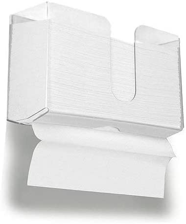Cq acrylic Wall Mount Paper Towel Dispenser,Clear Folded Paper Towel Holder for Bathroom Toilet and Kitchen,Suitable for Z-fold, C-fold or Multi-Fold Paper Towels,Pack of 1