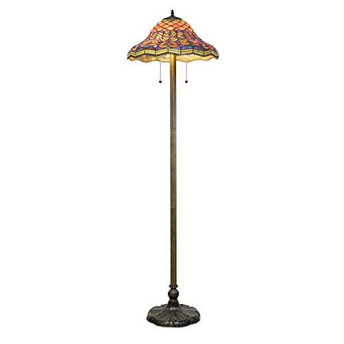 Price comparison product image 1908 Studios Tiffany Peacock Floor Lamp
