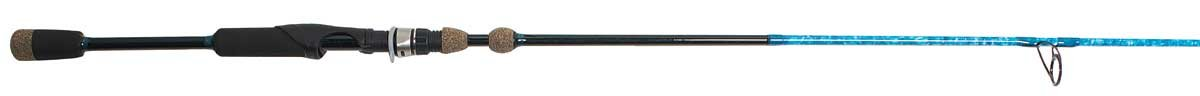 Wright & McGill Blair Wiggins S-Curve Inshore Series Travel Spinning Rod, Flats Blue Camo, 7-Feet x 6-Inch