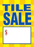 T50TLE Flooring Furniture Tile Sale - Slotted Sale Tags - 5'' x 7'' (100 Pack)