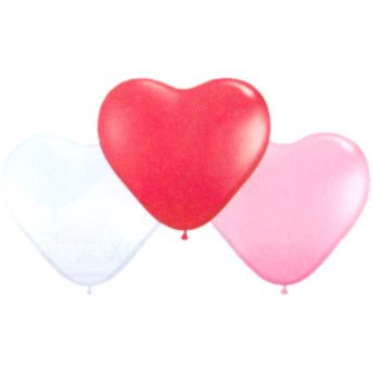 Pioneer Balloon Company Sweetheart Heart Shaped Latex Balloon, 6