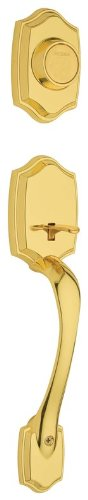Belleview Double Cylinder Entrance Handleset Finish: Polished Brass