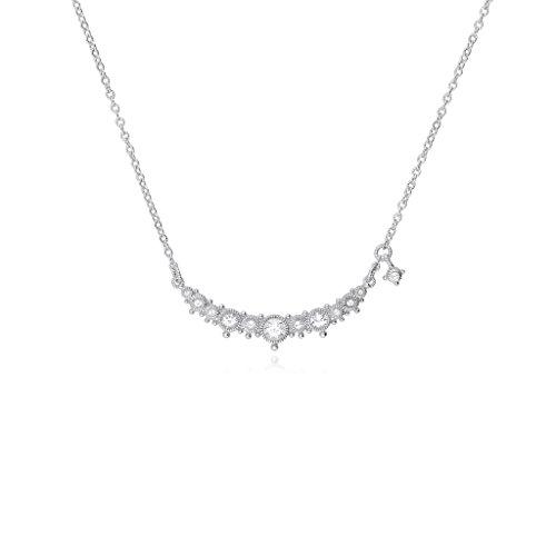JUDITH RIPKA Santorini White Topaz Bar Necklace (Judith Gemstone Necklace Ripka)