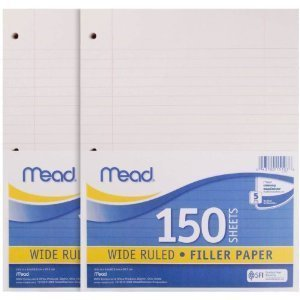 24 Pack of Mead Filler Paper, 150-Count, Wide Rule (15103) = 3600 sheets