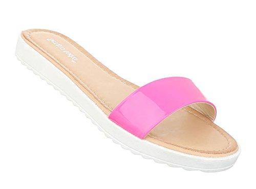 Damen Sandalen Schuhe Strandschuhe Sommerschuhe Pantoletten Pink