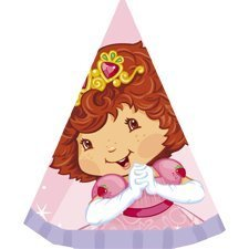 (8 Strawberry Shortcake Princess Party Hats)