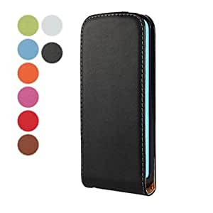 TOPAA Solid Color Open Up and Down PU Leather Full Body Case for iPhone 5C (Assorted Colors) , Green