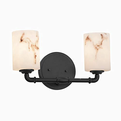 Justice Design Group Lighting FAL-8462-10-MBLK Bronx Bath Bar, Matte Black