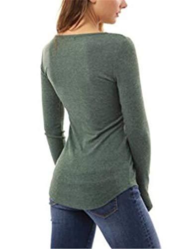Sport Spécial Rond En Casual Chandail Manches Col Sweatshirts Style Tops Blouses Bobolily Automne Unie Longues Vert Femmes Couleur À Au Dentelle Crochet wPyBqOaBC