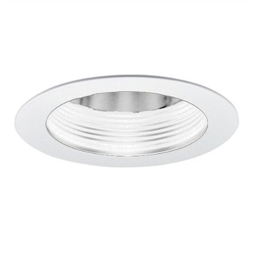 Specular Clear Cone (4 in. - Baffle with Cone Reflector and Ring - White Finish/Specular Clear Reflector - PLT PTS4230WW)