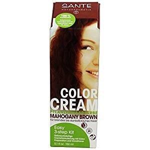 SANTE - Crema Colorante per Capelli - Tonalità Mogano Scuro - 100% Naturale  - Senza 28c8ffd3e30e