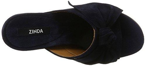Zinda Ladies 2856 Sandali Aperti Blu (blu Scuro)