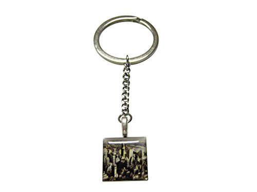 New York City Skyline Pendant Keychain