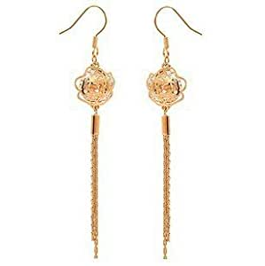 GDSTAR earring Delicate hollow-out ShanZuan crystal camellia