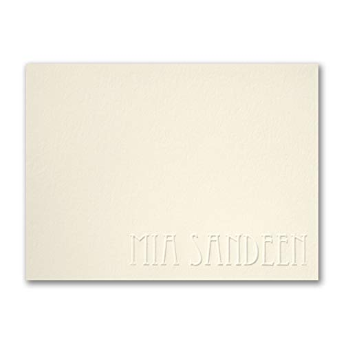 525pk Simply Perfect - Large Note Card - Embossed - Ecru-Shop All Stationery by Carlson Craft (Image #1)
