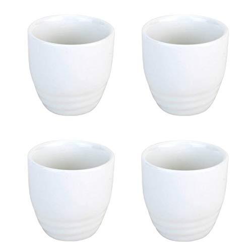 - JapanBargain 2724x4 Porcelain Sake Cup, WhiteCup x4, White