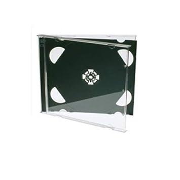 Cajas dobles para CD (25 unidades, 10 mm), color negro: Amazon.es: Electrónica