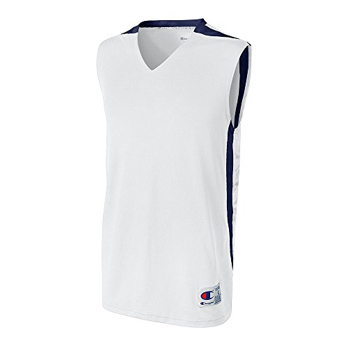 Champion Men`s and Youth Supreme Basketball Jersey White/Athletic Navy