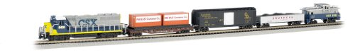Bachmann Industries Freightmaster Ready To Run 60 Piece Electric Train Set Train Car N Scale (Locomotive Telephone)