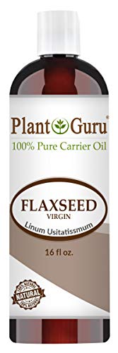 Flaxseed Oil 16 oz Virgin, Unrefined Cold Pressed 100% Pure Natural Carrier - Skin, Body And Face. Great For Psoriasis, DYI Creams, Lotions and Lip balms.