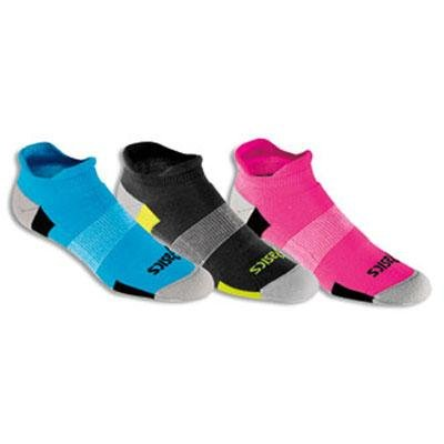 Asics women's socks Intensity low cut flare/aqua/iron 3pairs by ASICS