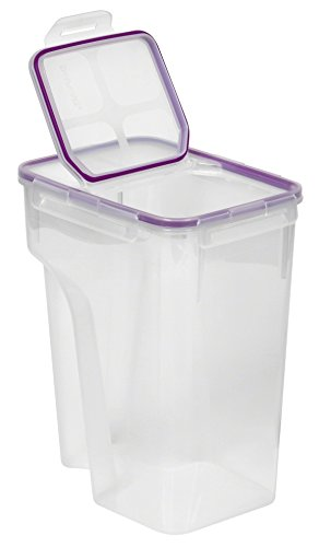 Tupperware Cereal - Snapware 4014 Airtight 22.8-Cup Rectangular Food Storage Container with Fliptop Lid, Purple