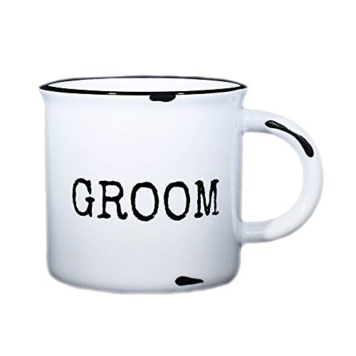 Groom Mug - 15 oz Distressed Campfire Mug for Groom ()