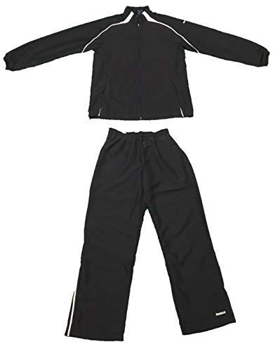 Reebok Team Warmup 2 PC Jacket/Pants (Medium, Navy/White) (Reebok Mens Track Suit)