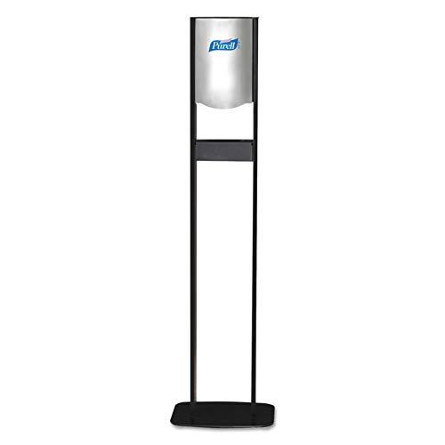PURELL 2456DS Elite LTX Floor Stand Dispenser Station, For 1200mL Refills, Chrome/Black
