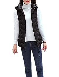 Joe Wenko Women Winter Outerwear Hooded Down Coat Puffer Cotton-Padded Warm Vest
