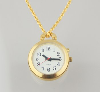 LS&S 1 Button Pendant Talking Watch - Gold With 27