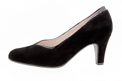 Women's Court Comfort 9206 PieSanto Negro Wide Shoe Extra TBnUvA