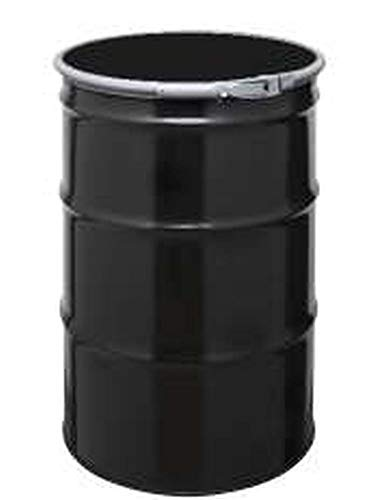 55 Gal Steel Drum Open-Head | Black | Metal