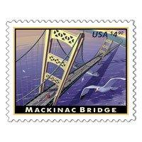 Mackinac Bridge Michigan Mighty Mac 2010 $4.90 Priority Mail Single Stamp Scott - Mail Fee Priority