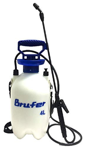 BRUFER 72022 Sprayer for Lawns and Gardens or Cleaning Decks, Siding and Concrete - 1.1 Gallon (4L) with Pressure Release Valve (Best 1 Gallon Garden Sprayer)