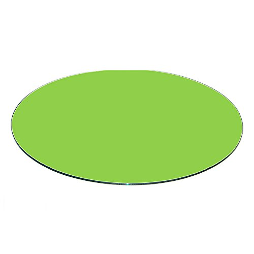 Fab Glass and Mirror 3/8'' Thick Flat Tempered Round Glass Table Top,  32'',  Green by Fab Glass and Mirror