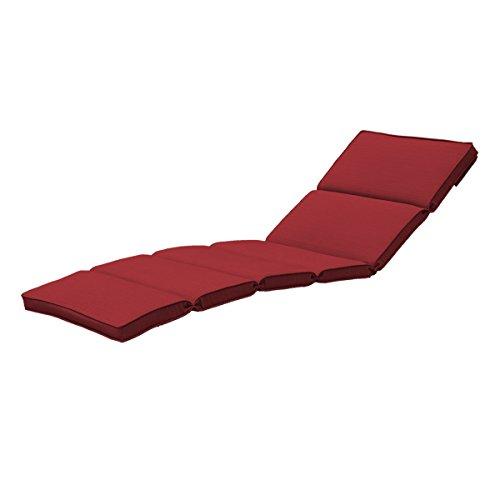 Creative Living 10093429 Bali Chaise Lounge Envelope Back Cushion, Ribbed Brick (Chaise Brick Lounge)