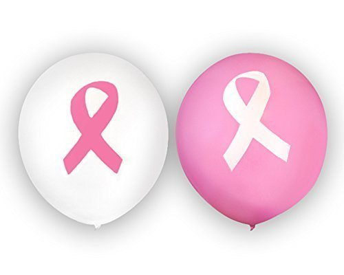 Breast Cancer Awareness Pink Ribbon Balloons (1 Pack of 25 Balloons) Fundraising For A Cause