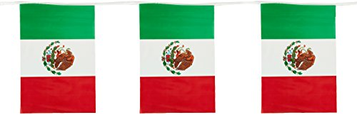 Beistle 50711 Outdoor Mexican Flag Banner, 17 by 60-Feet