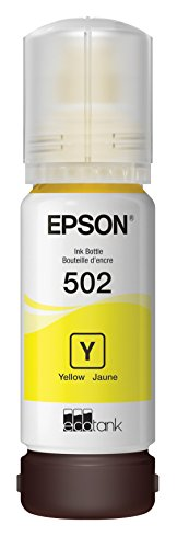 Epson T502 EcoTank Yellow Auto-Stop Ink Bottle (ET-2700, ET-2750, ET-3700, ET-3750, ET-4750) -  0.250, Ink Cartridges