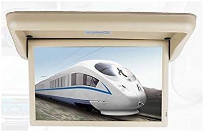 RBTT Protección contra la radiación Monitor de TV para automóvil Techo Pantalla Grande TFT de 18.5 Pulgadas HD 1080P Adecuado para HDMI SD FM PAL NTSC Operación de Video,Beige: Amazon.es: Deportes y
