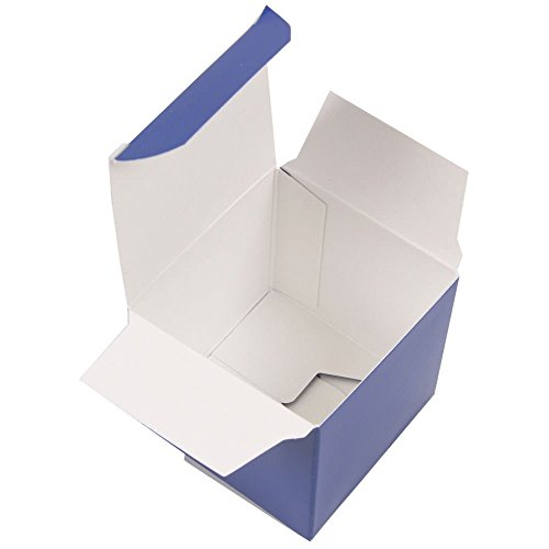 JAM PAPER Glossy Gift Boxes - 2 x 2 x 2 - Royal Blue Glossy - 10/pack