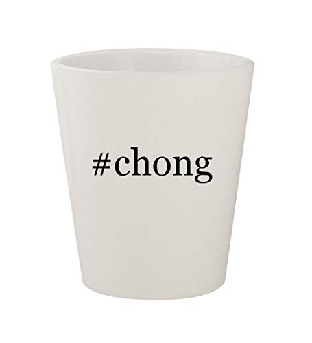 #chong - Ceramic White Hashtag 1.5oz Shot Glass -