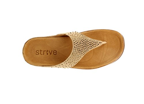 Strive Footwear - Sandalias de vestir de Piel para mujer Negro negro 36 EU Pale Gold/Oxford Tan
