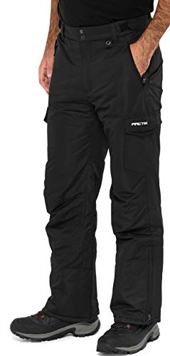 Arctix Men's Snow Sports Cargo Pants, Black, X-Large/36